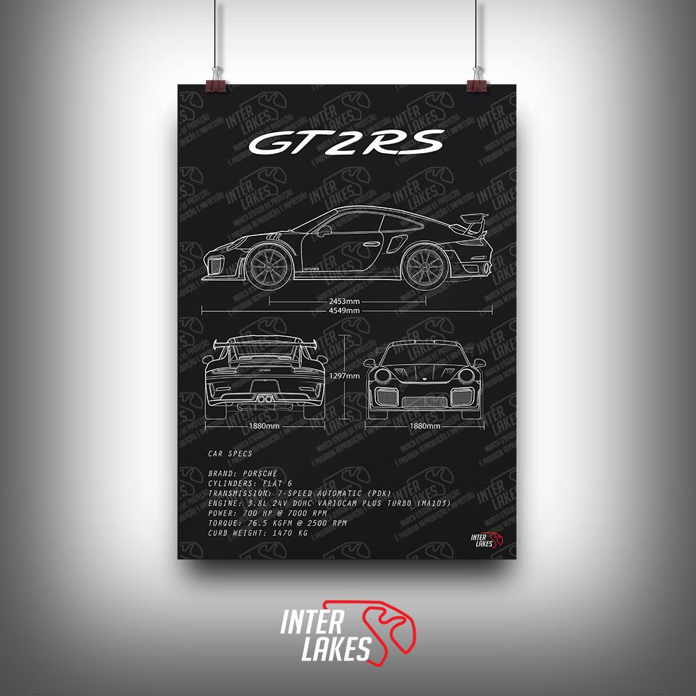 QUADRO/POSTER PORSCHE 911 GT2 RS 991