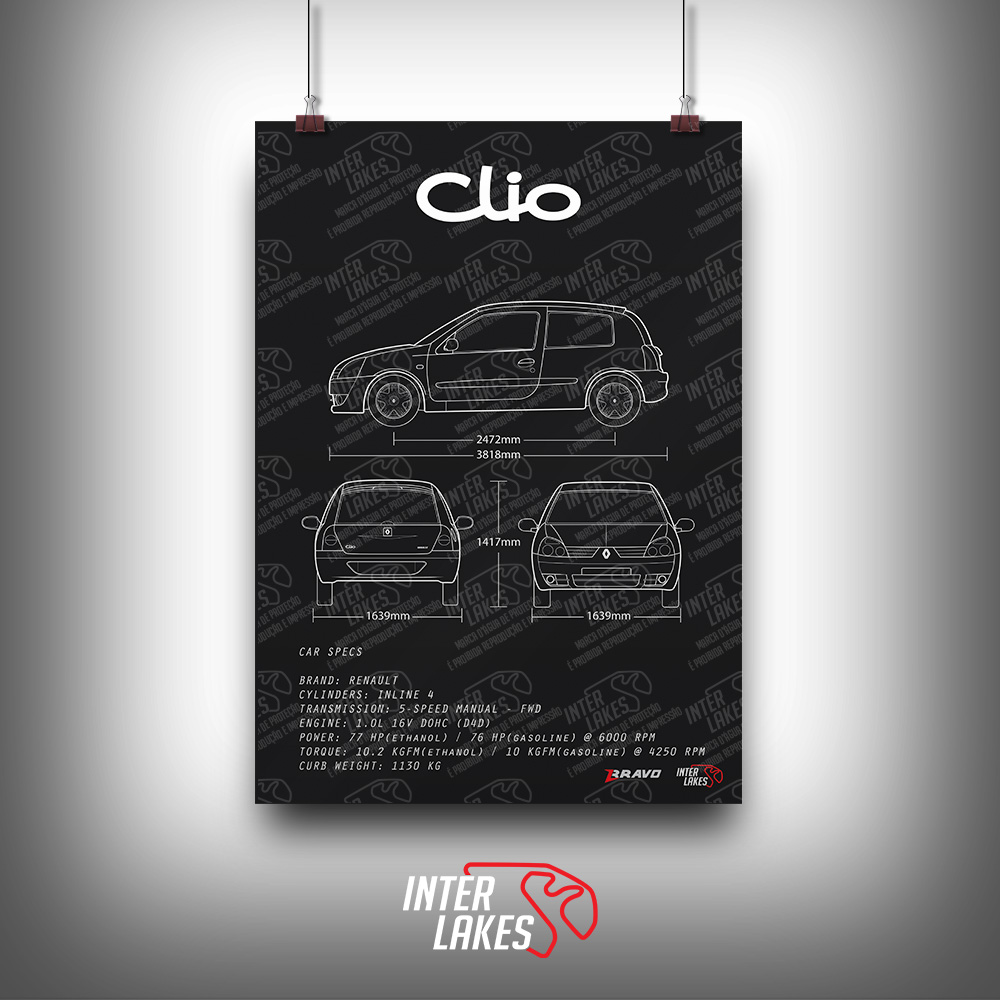 QUADRO/POSTER RENAULT CLIO 1.0 16V 2P 2010