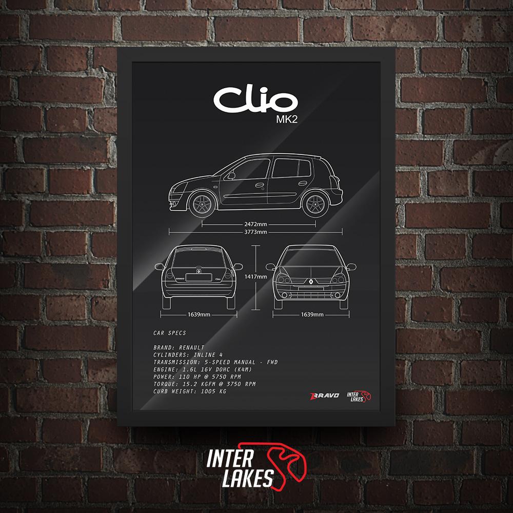 QUADRO/POSTER RENAULT CLIO 1.6 16V 2003 EXPRESSION