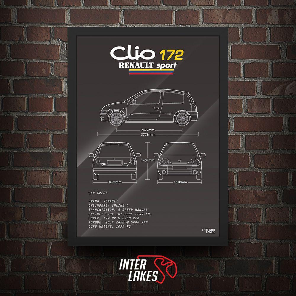 QUADRO/POSTER RENAULT CLIO SPORT 172