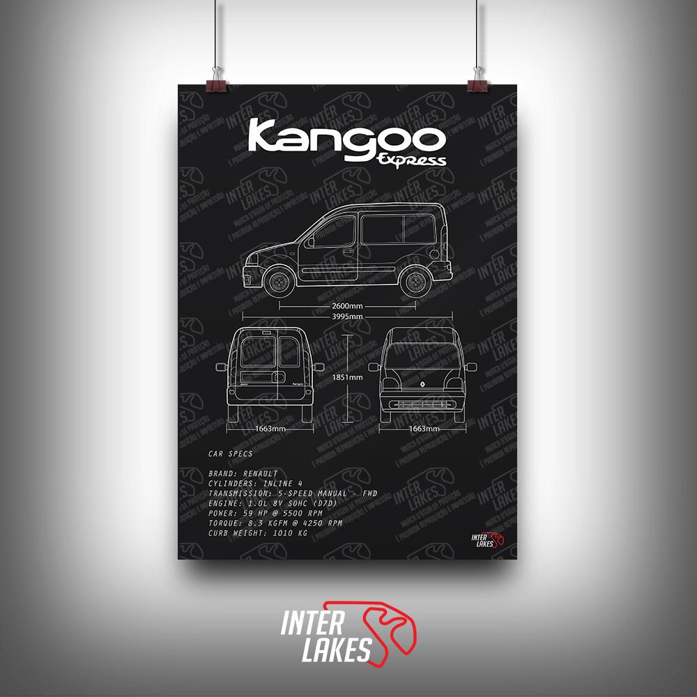 QUADRO/POSTER RENAULT KANGOO EXPRESS 1.0 2001
