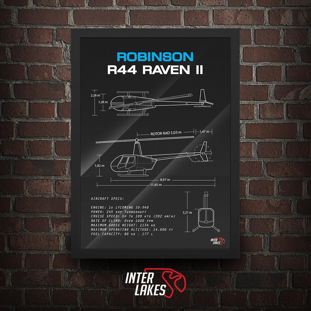 QUADRO/POSTER ROBINSON R44 RAVEN II