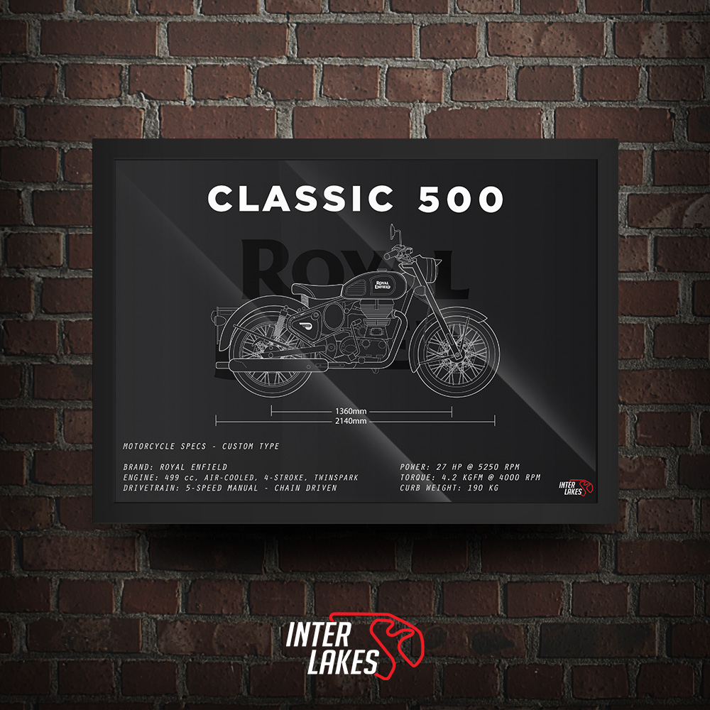 QUADRO/POSTER ROYAL ENFIELD CLASSIC 500 2017