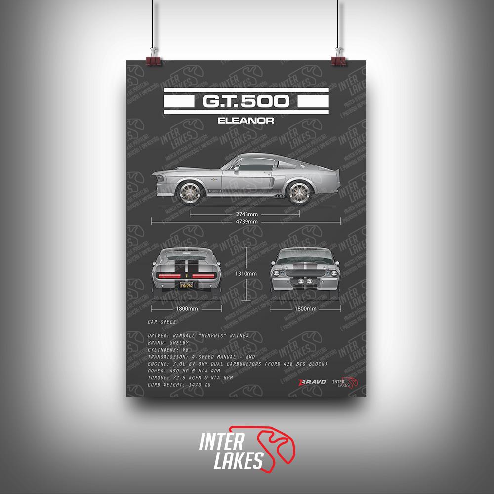 QUADRO/POSTER SHELBY MUSTANG GT500 ELEANOR - 60 SEGUNDOS
