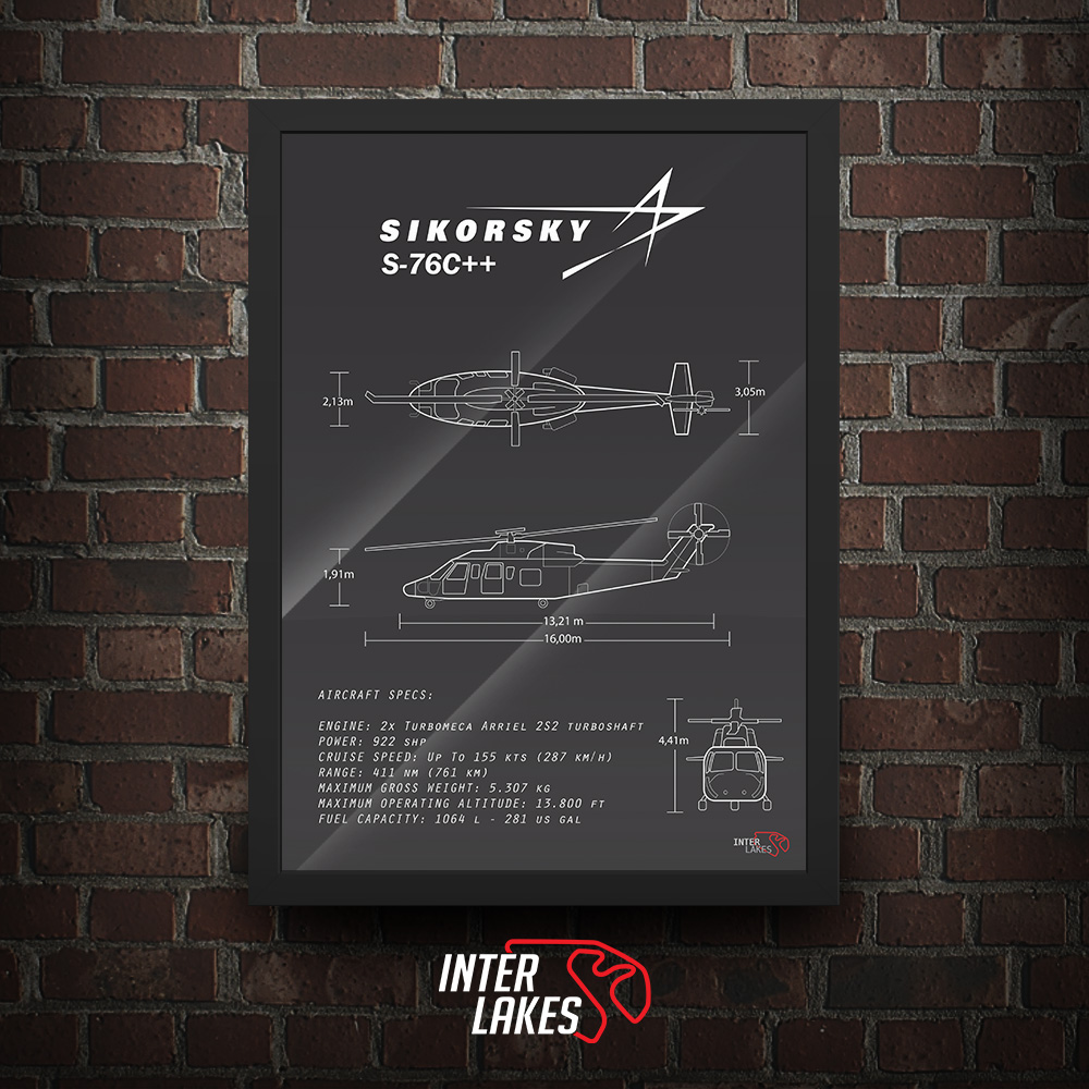 QUADRO/POSTER SIKORSKY S76C++