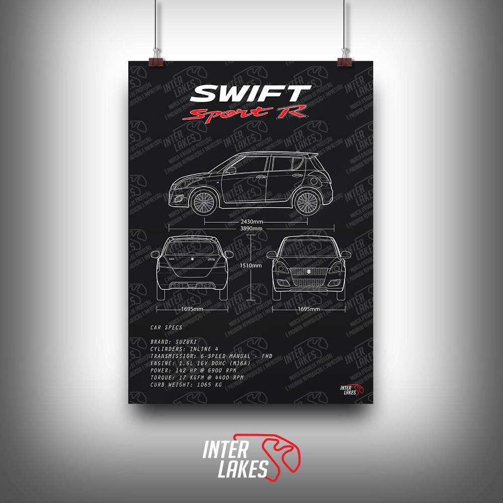 QUADRO/POSTER SUZUKI SWIFT SPORT R 2015