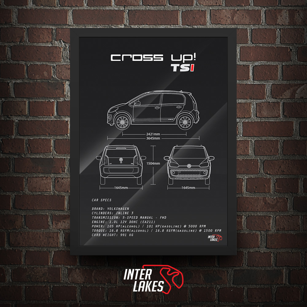 QUADRO/POSTER VOLKSWAGEN CROSS UP! TSI 2016