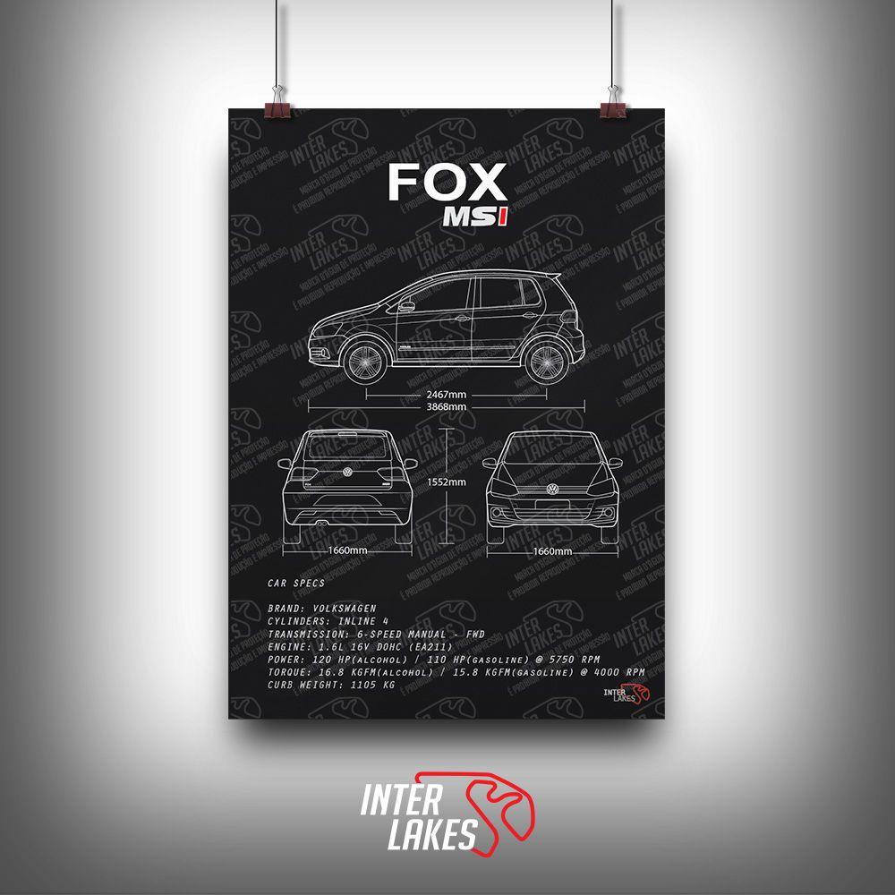 QUADRO/POSTER VOLKSWAGEN FOX G3 HIGHLINE 1.6