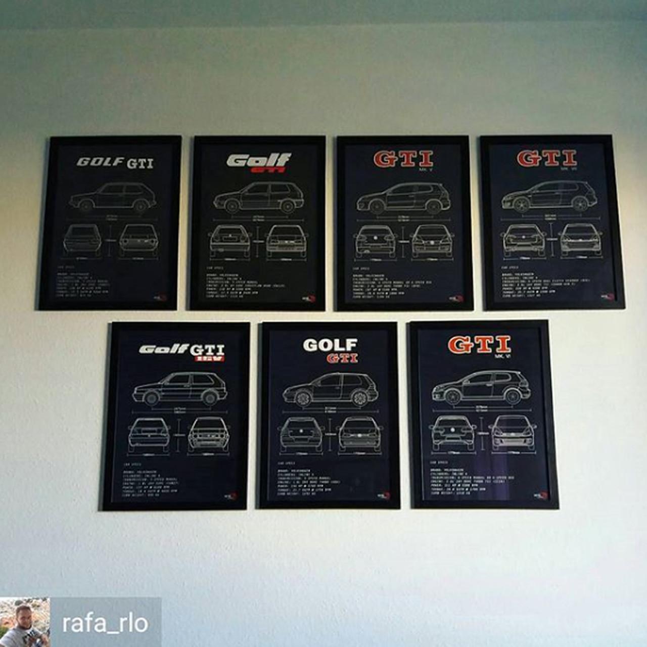 QUADRO/POSTER VOLKSWAGEN GOLF GTI MK3
