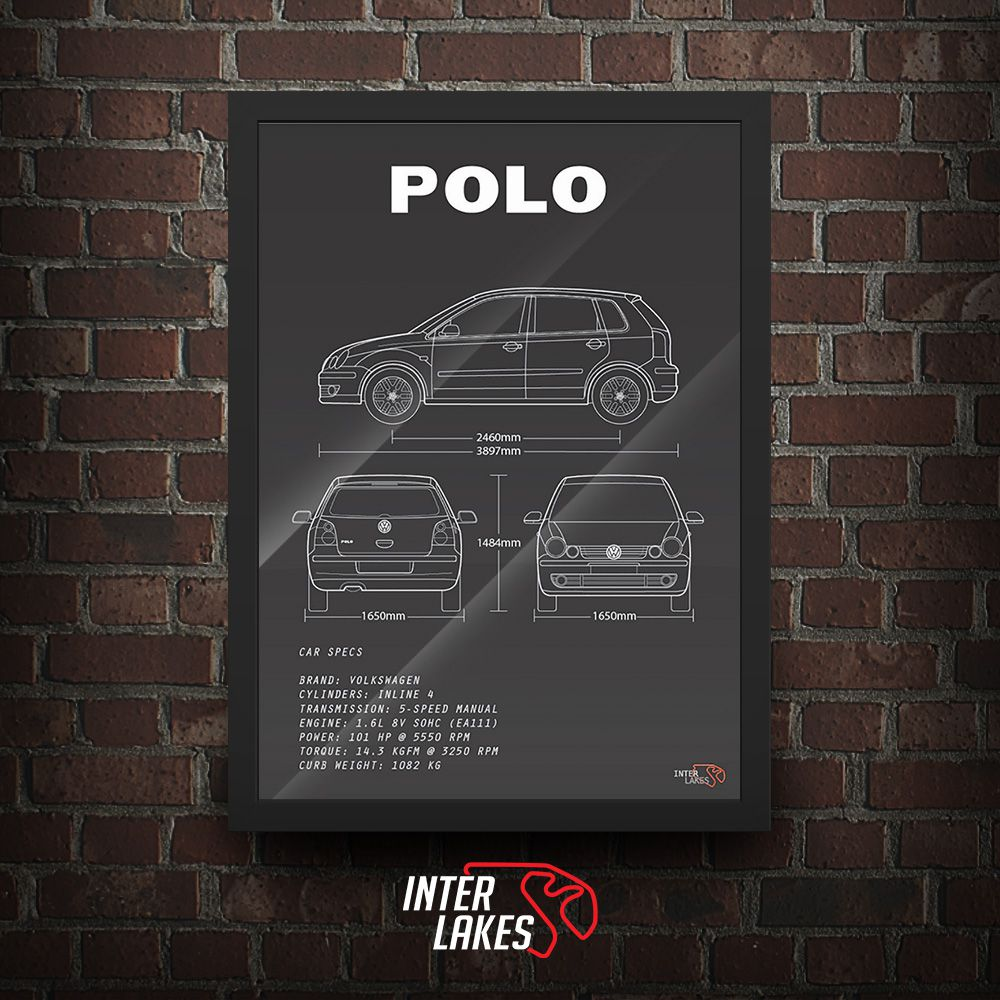 QUADRO/POSTER VOLKSWAGEN POLO 9N