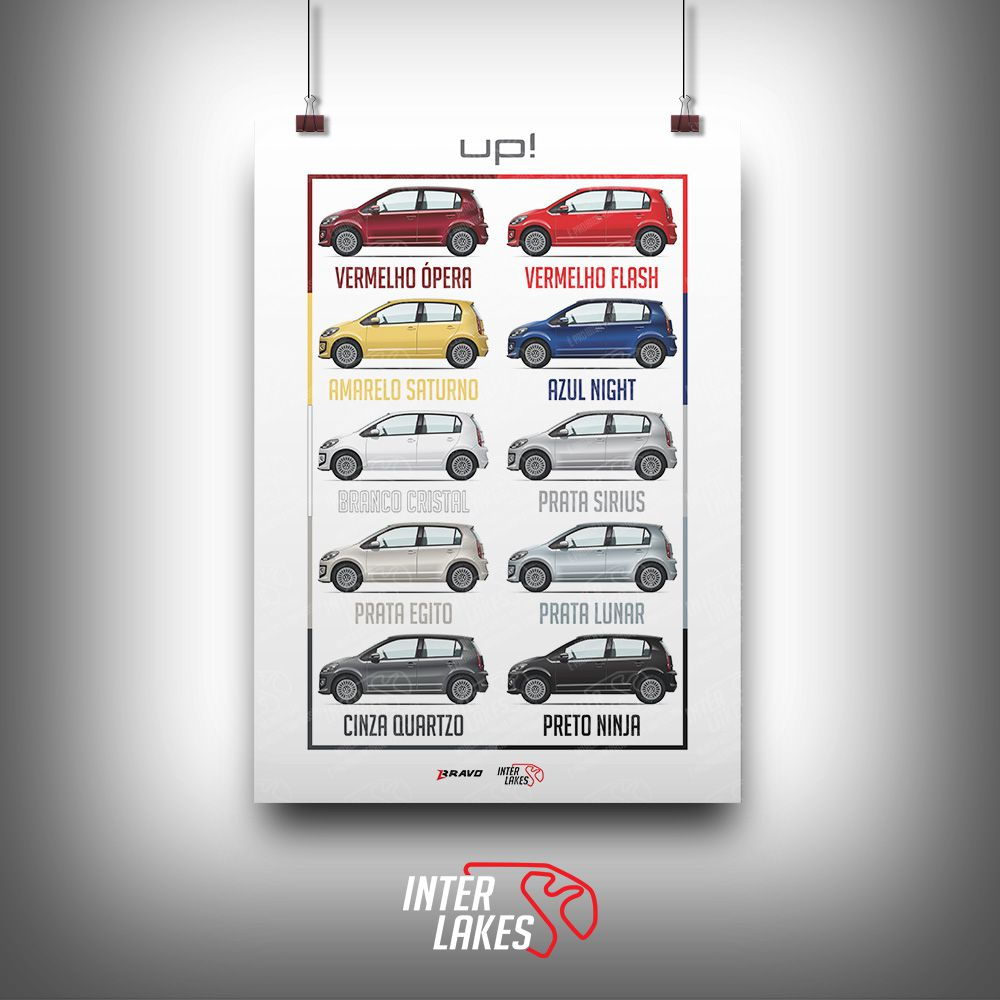 QUADRO/POSTER VOLKSWAGEN UP 2014-2017 - COLORS