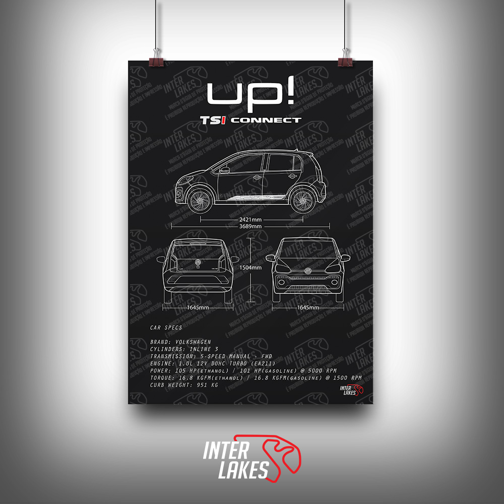 QUADRO/POSTER VOLKSWAGEN UP! TSI CONNECT 2020
