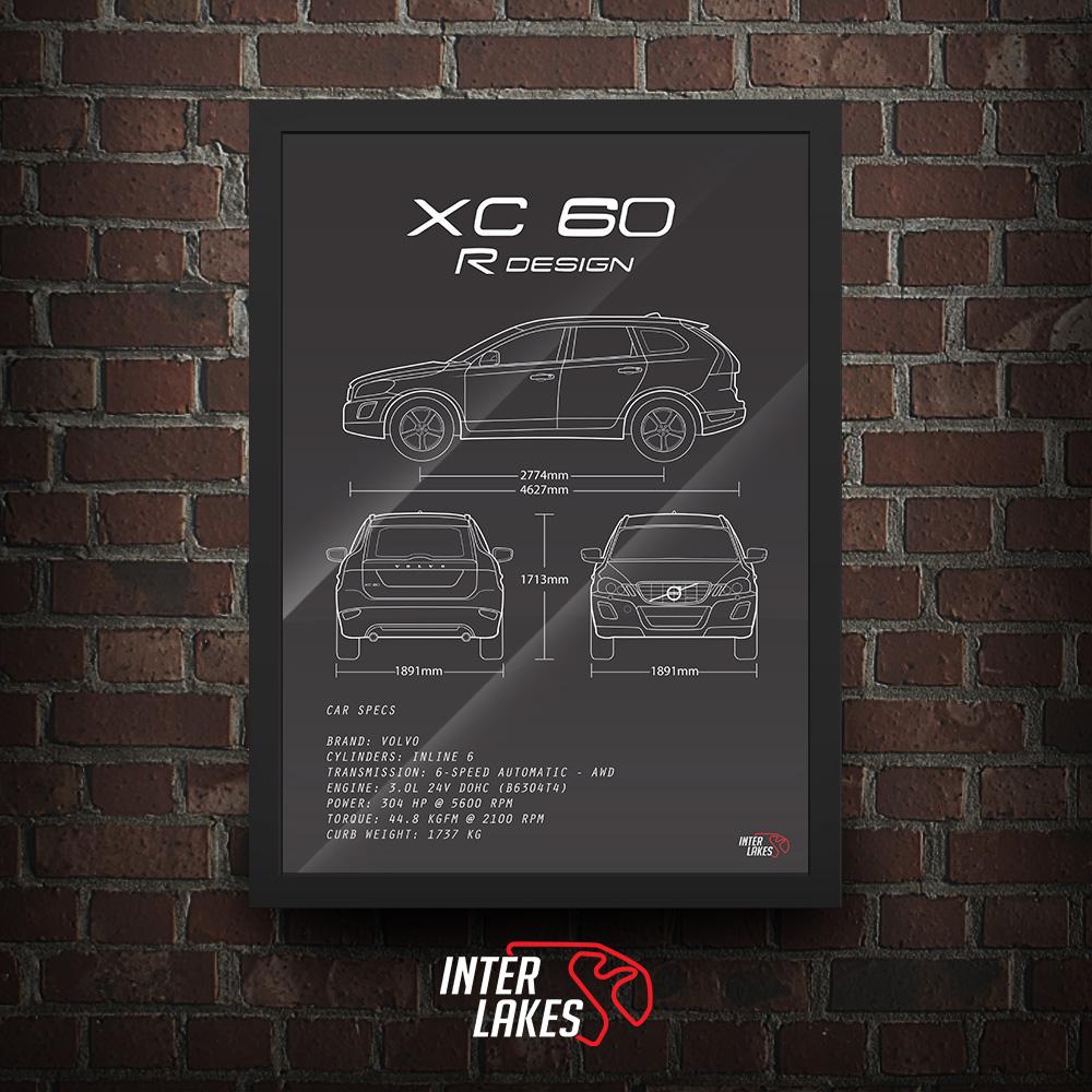 QUADRO/POSTER VOLVO XC60 3.0 R-DESIGN 2012