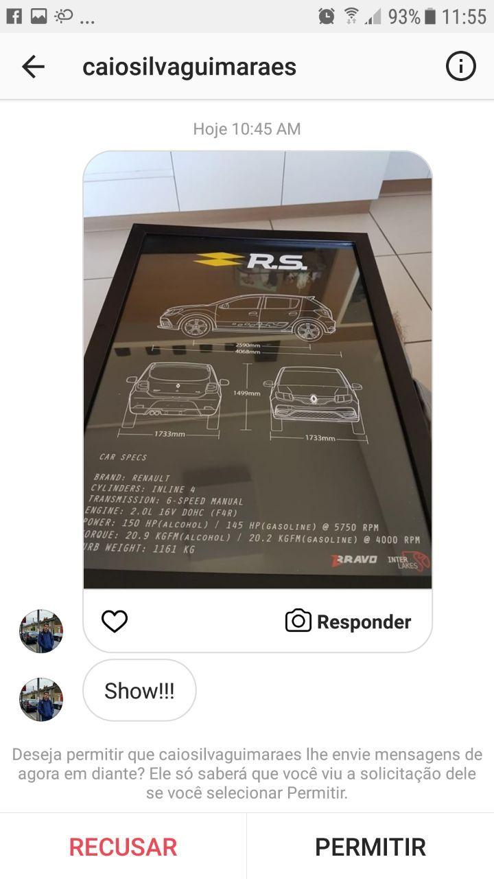 QUADRO RENAULT SANDERO RS