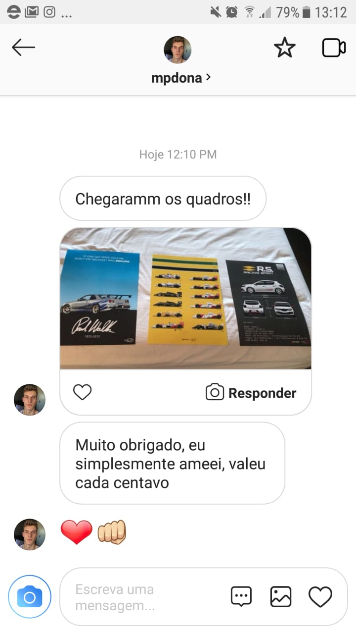 QUADRO/POSTER SENNA CARS