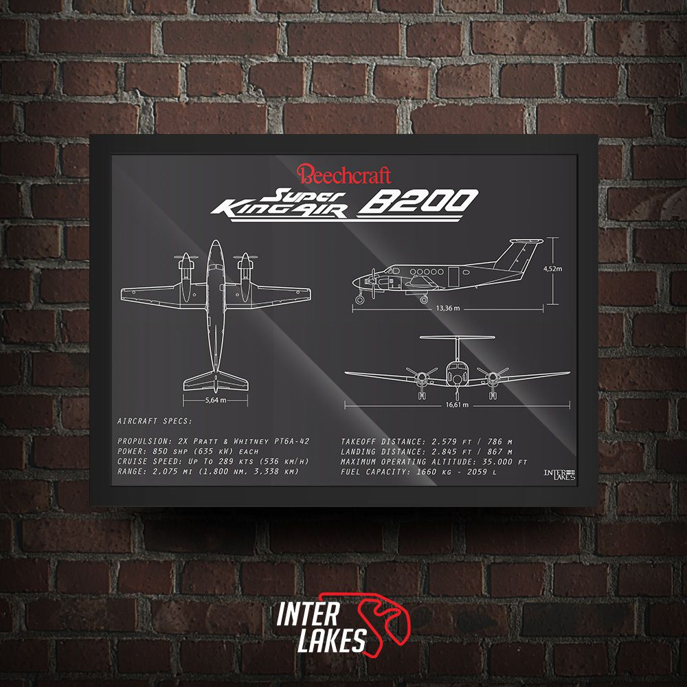 QUADRO/POSTER SUPER KING AIR B200