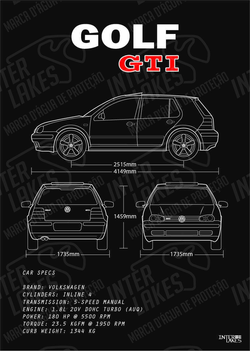 VOLKSWAGEN GOLF GTI MK4 4P