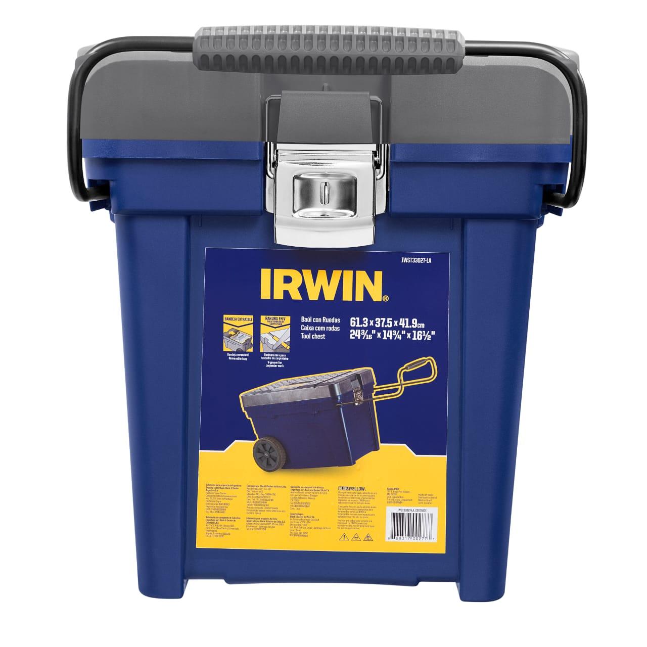 Caixa Baú Ferramentas com Rodas Contractor IWST33027-LA Irwin