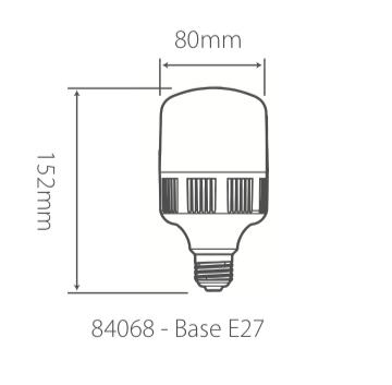 Lâmpada Led Bulbo-T 20W Bivolt 6500k 1800lm Branca Fria Alumbra