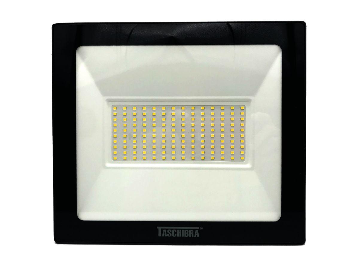 Refletor Led 100W Luz Branca Holofote Bivolt Slim Taschibra
