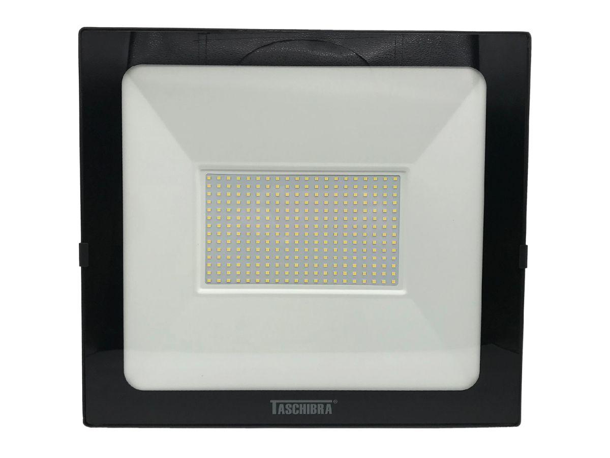Refletor Led 200W Luz Branca Holofote Bivolt Slim Taschibra