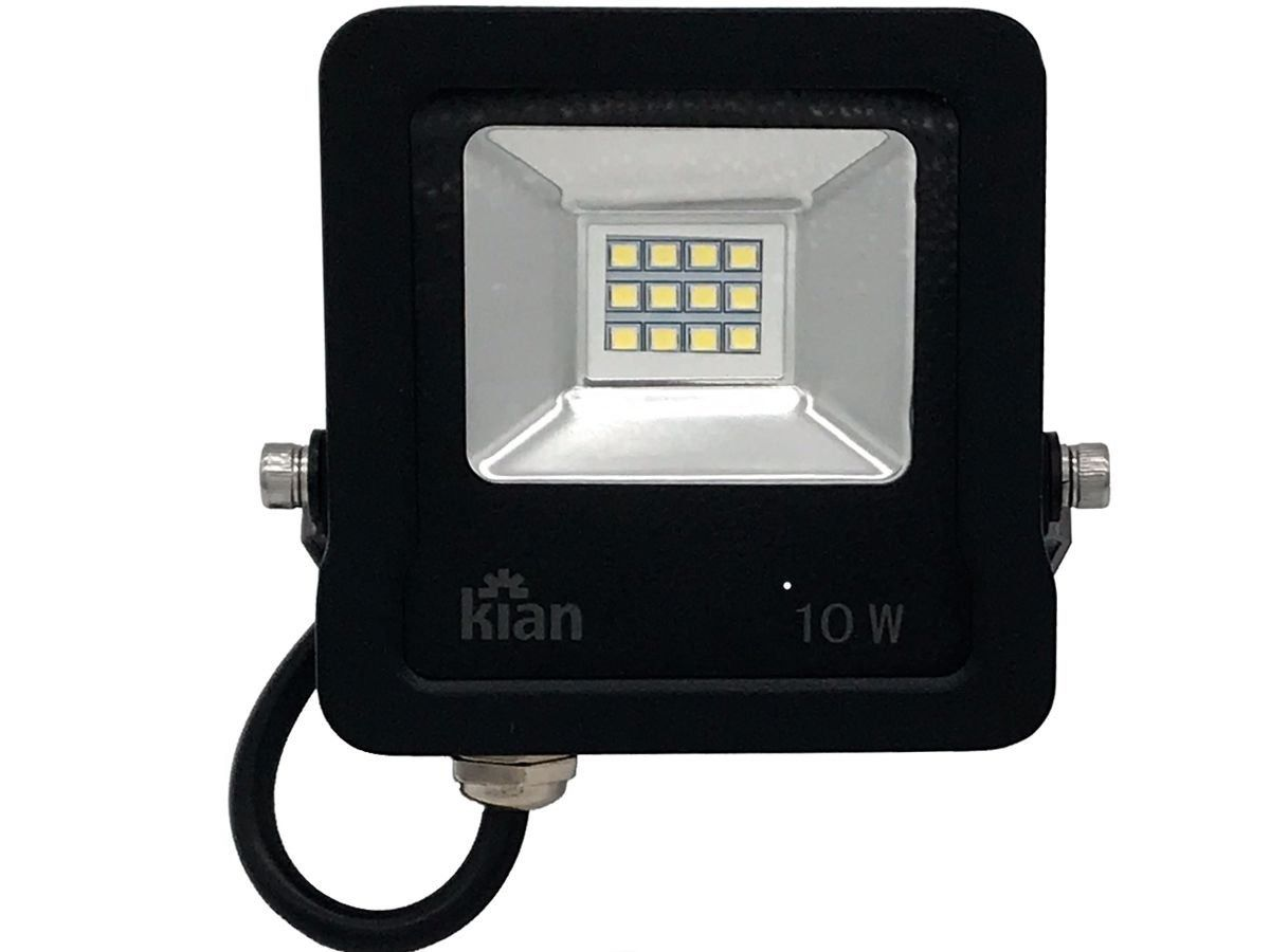 Refletor Led Blindado 10W 800Lm Luz Fria Bivolt Kian