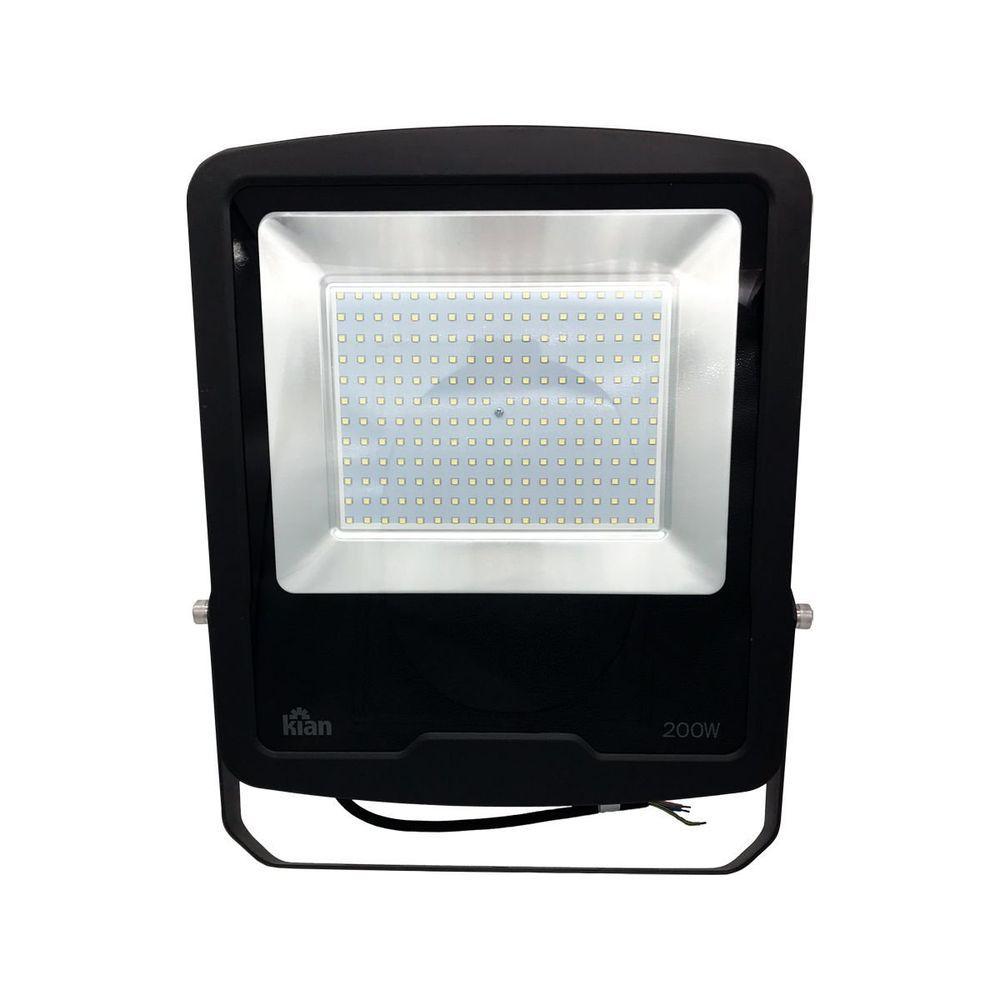 Refletor Led Blindado 200W 15.000Lm Luz Fria Bivolt Kian