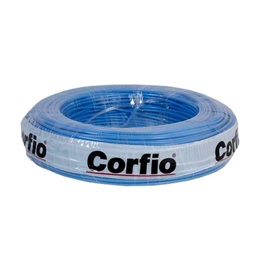 Rolo de Cabo Flexível 4.00mm Azul Corfio