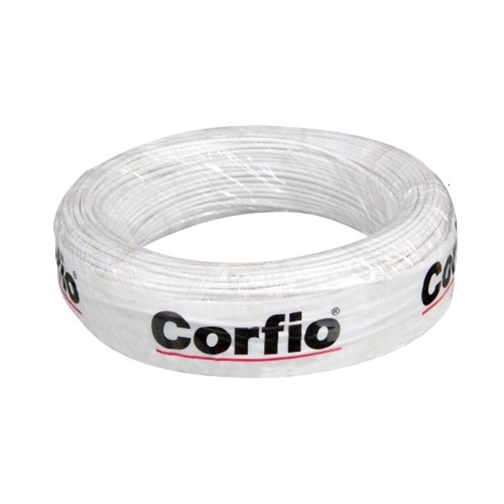 Rolo de Cabo Flexível 6.00mm Branco Corfio