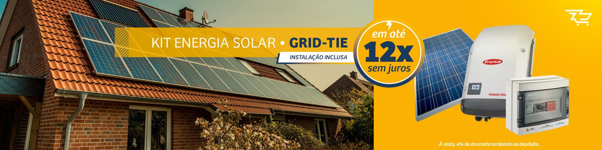 Kit de Energia Solar Grid Tie