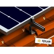 Estrutura Solar para 4 placas - Telhado Colonial