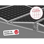 Estrutura Solar para 8 placas - D-DOME V 10º (4x2)