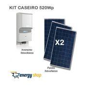 Kit Energia Solar Caseira 500W [Não instalado]