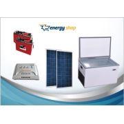 Kit Energia Solar Freezer 70 litros (2xpainel 100W)