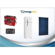 Kit Energia Solar Geladeira Duplex 260 litros