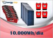 Kit Energia Solar OFF Grid até 10000 Wh / Dia - 24V com visor