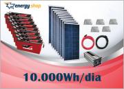 Kit Energia Solar OFF Grid até 10000 Wh / Dia + Inversor 6000W 24/220V