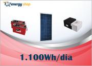 Kit Energia Solar OFF Grid até 1100 Wh / Dia