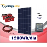 Kit Energia Solar OFF Grid até 1200 Wh/Dia