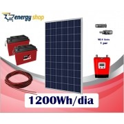 Kit Energia Solar OFF Grid até 1200 Wh/Dia (e-Smart)