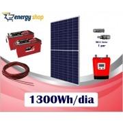 Kit Energia Solar OFF Grid até 1300 Wh/Dia (e-Smart)