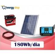 Kit Energia Solar OFF Grid até 180 Wh / Dia (Komaes)