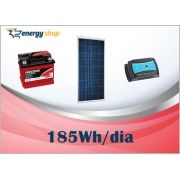 Kit Energia Solar OFF Grid até 185 Wh / Dia
