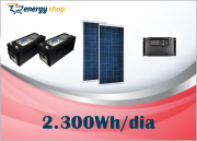 Kit Energia Solar OFF Grid até 2300 Wh / Dia