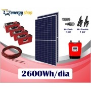 Kit Energia Solar OFF Grid até 2600 Wh/Dia (e-Smart)
