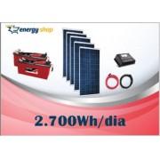 Kit Energia Solar OFF Grid até 2700 Wh / Dia