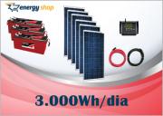 Kit Energia Solar OFF Grid até 3000 Wh / Dia (12V)