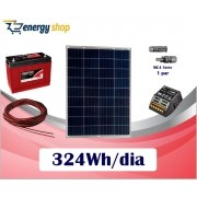 Kit Energia Solar OFF Grid até 324Wh / Dia