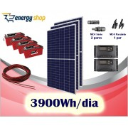 Kit Energia Solar OFF Grid até 3900 Wh / Dia