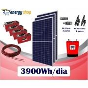 Kit Energia Solar OFF Grid até 3900 Wh/Dia (e-Smart)